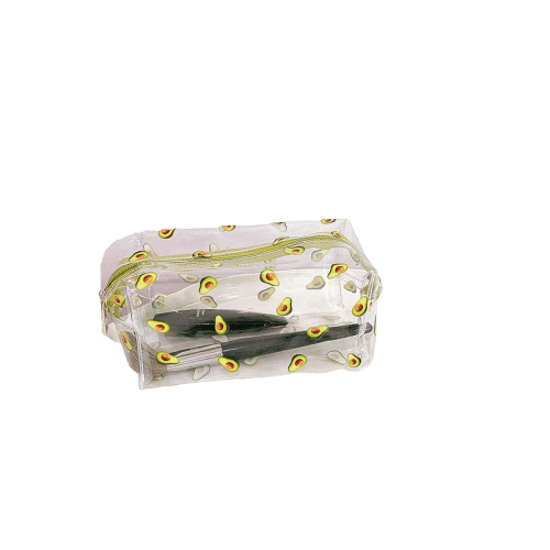 Trousse de toilette transparente fruits