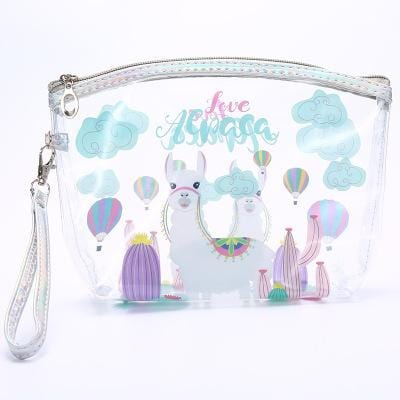 Trousse de toilette transparente animaux