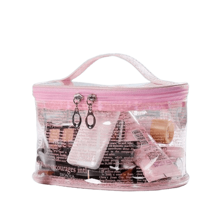 Trousse de toilette transparente large