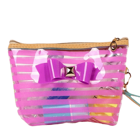 Trousse de toilette transparente noeud papillon