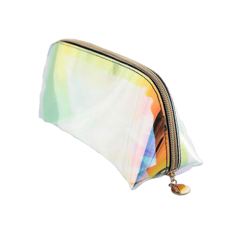 Trousse de toilette transparente multicolore