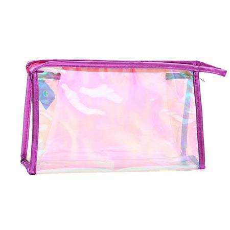 Trousse de toilette transparente colorée