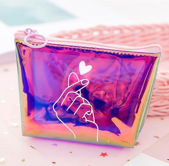 Trousse de toilette transparente love