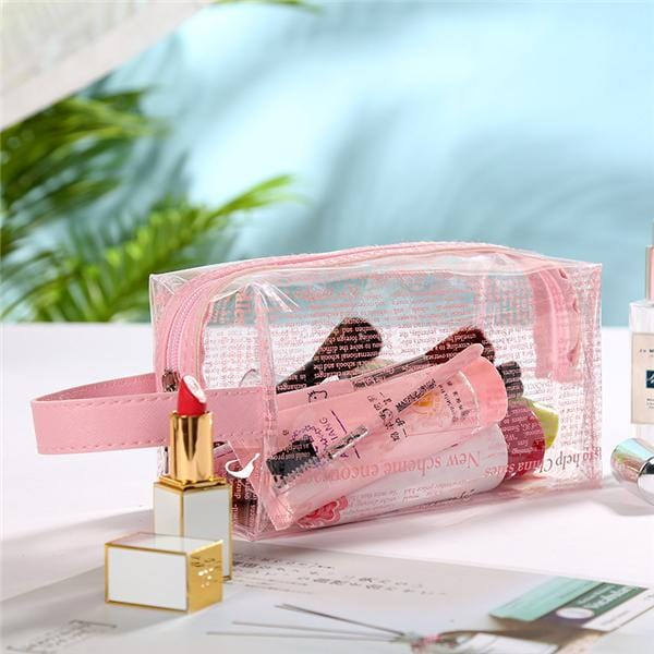 Trousse de toilette transparente journal