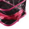 Trousse de toilette transparente rose