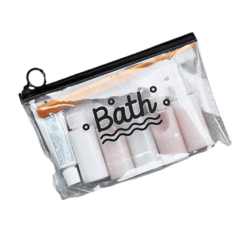 Trousse de toilette transparente bath
