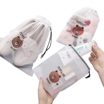Trousse de toilette transparente ourson