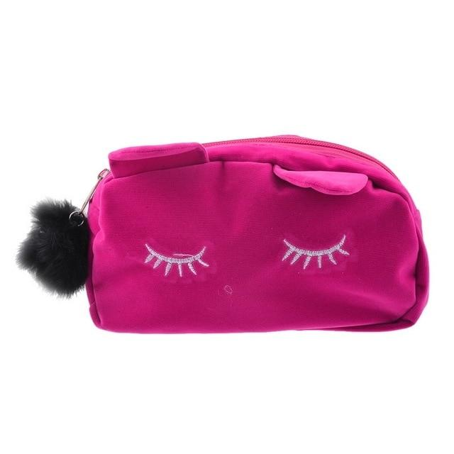 Trousse de toilette fille chat