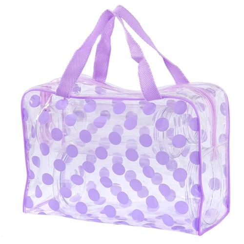 Trousse de toilette transparente points