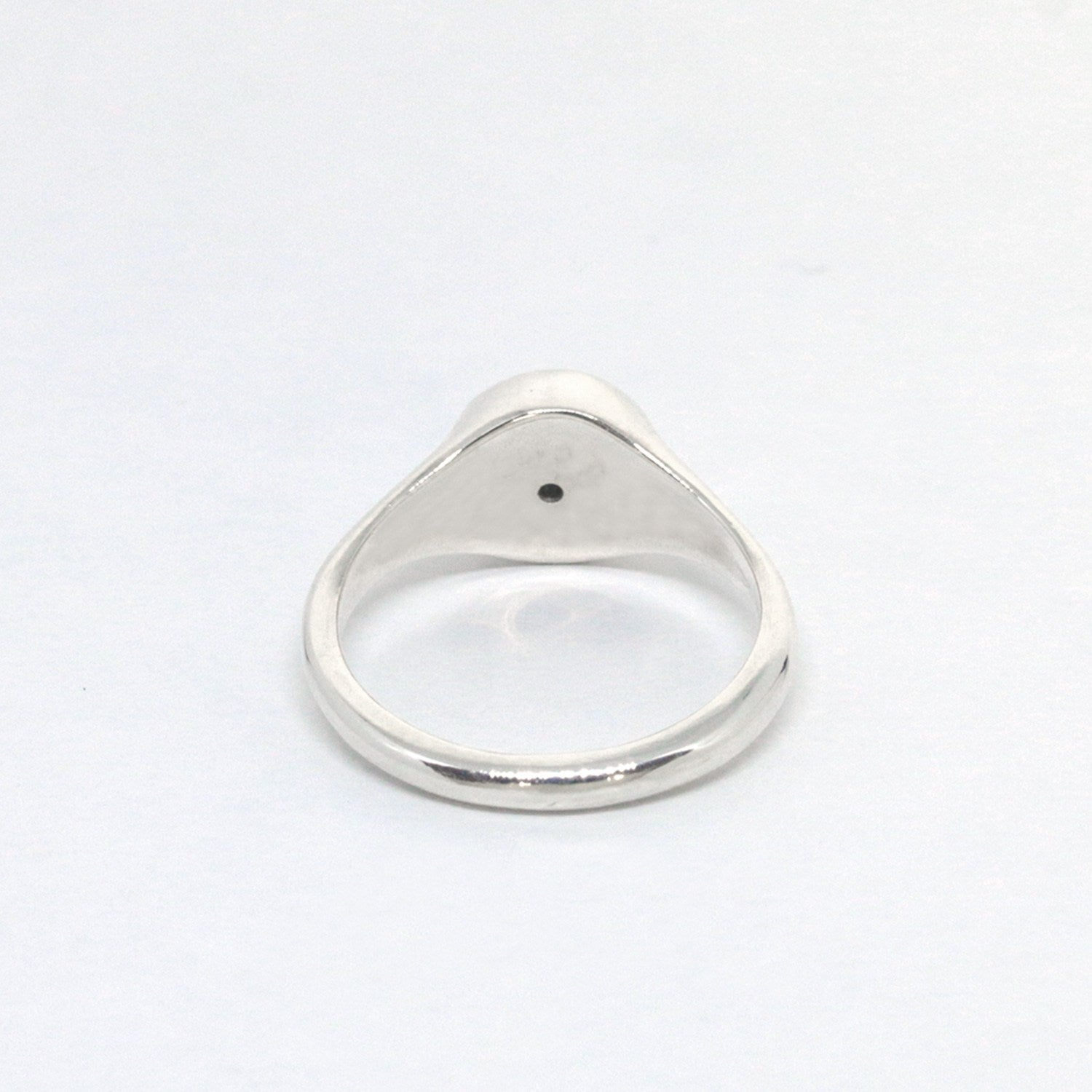 Slim Signet Ring - Black Diamond