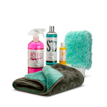 Gloss Wash Kit - citrus pre-wash, shampoo, rinse aid, wash mitt and drying towel