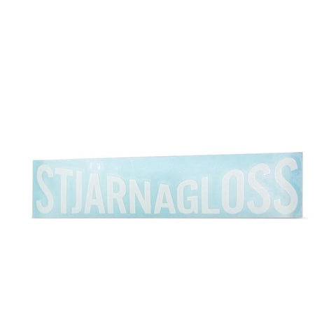Stjärnagloss vinyl sticker - white, cut vinyl for windows etc. - Trade Case - HS 491191