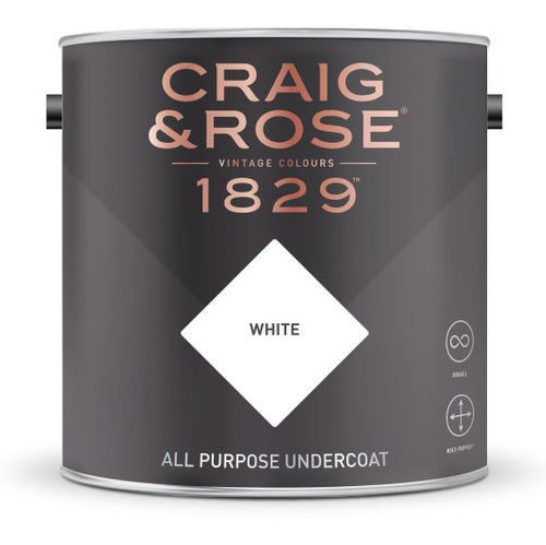 Craig & Rose All Purpose Undercoat White (750ml) - Buy Paint Online