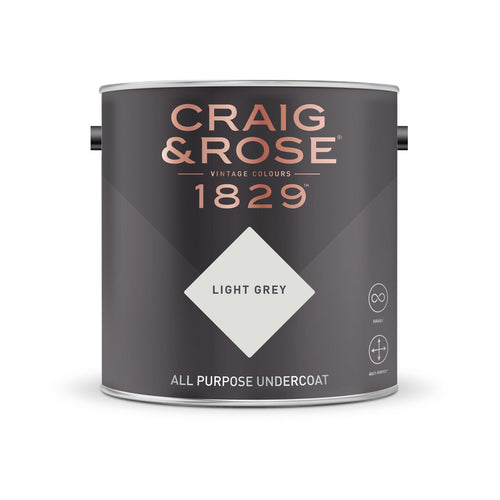 Craig & Rose 1829 All Purpose Undercoat - Light Grey (2.5L) - Buy Paint Online
