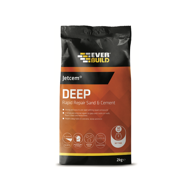 Everbuild Jetcem Premix Sand and Cement | 2kg | Buy Everbuild Online
