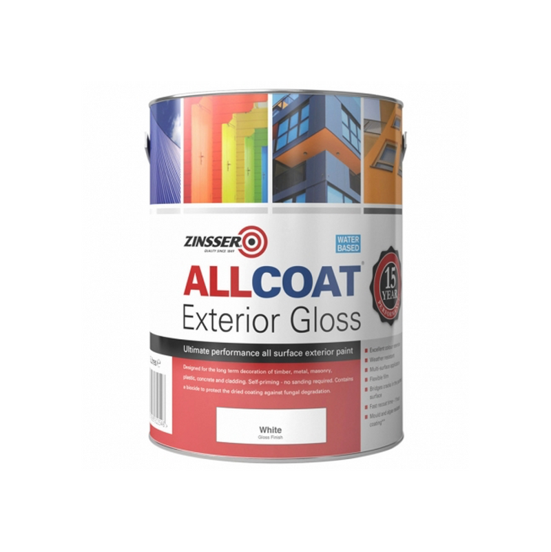 Zinsser AllCoat Exterior Gloss (Water Based) - 5L