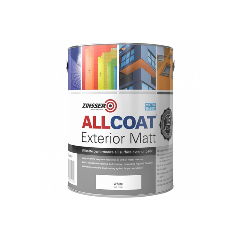 Zinsser All Coat Exterior Matt (Water Based) - 2.5L