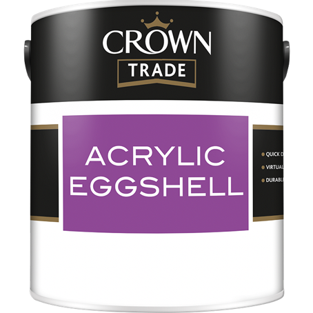 Crown Trade Acrylic Eggshell Paint - Buy Paint Online