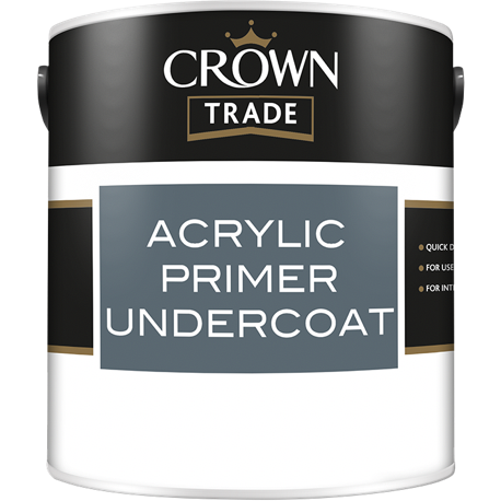 Crown Trade Acrylic Primer Undercoat Paint - Buy Paint Online