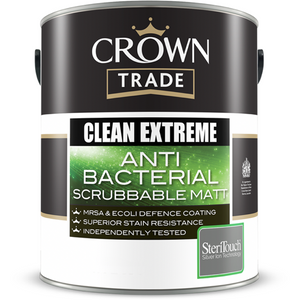 Crown Trade Clean Extreme Anti-Bacterial Scrubbable Matt Paint - Buy Paint Online