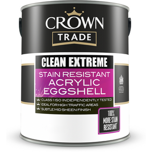 Crown Trade Clean Extreme Durable Acrylic Eggshell Paint - Buy Paint Online