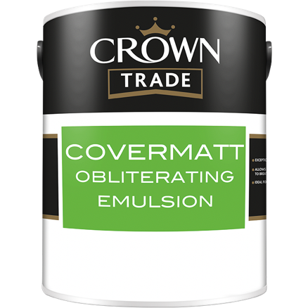 Crown Trade Covermatt Obliterating Emulsion Paint - Buy Paint Online