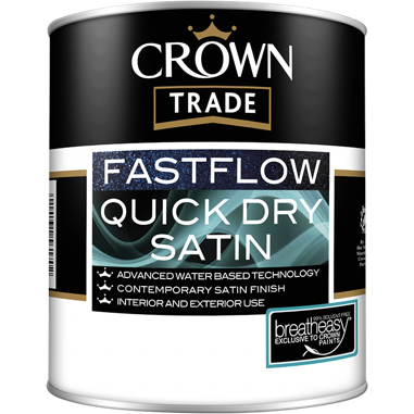 Crown Trade Fastflow Quick Dry Satin Paint - Buy Paint Online
