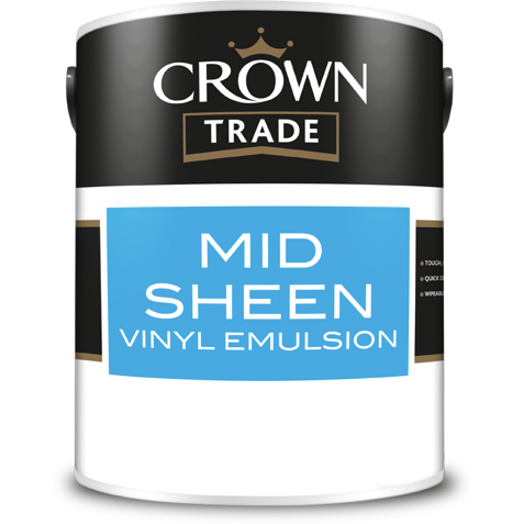 Crown Trade Mid Sheen Vinyl Paint - Buy Paint Online