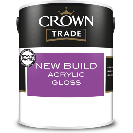 Crown Trade New Build Acrylic Gloss Paint - Buy Paint Online