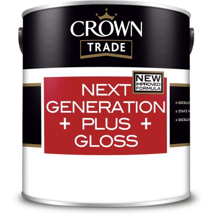 Crown Trade Next Generation Plus Gloss Paint - Buy Paint Online