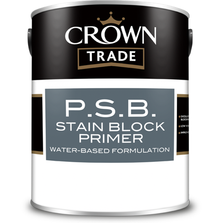 Crown Trade PSB Stain Block Primer - Buy Paint Online