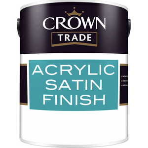 Crown Trade Acrylic Satin Finish Paint