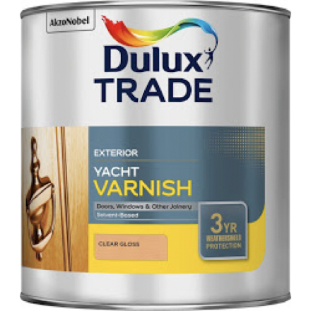Dulux Trade Clear Gloss Yacht Varnish - Buy Paint Online