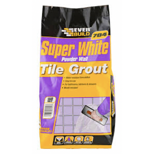 Everbuild 704 Super White Powder Wall Tile Grout - Buy Paint Online