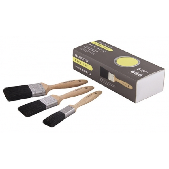 Hamilton Prestige Pure Bristle Paint 3 Brush Box Set - Buy Paint Online