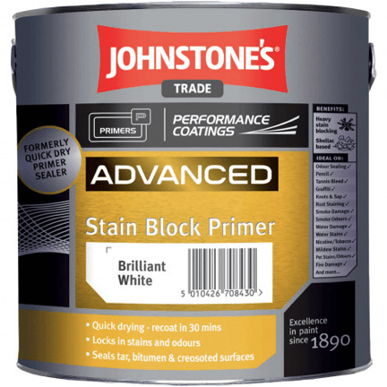 Johnstones Advanced Stain Block Primer - Buy Paint Online
