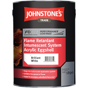 Johnstones Flame Retardant Intumescent Upgrade Acrylic Eggshell - Buy Paint Online