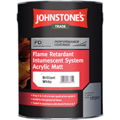 Johnstones Flame Retardant Intumescent Upgrade Acrylic Matt - Buy Paint Online