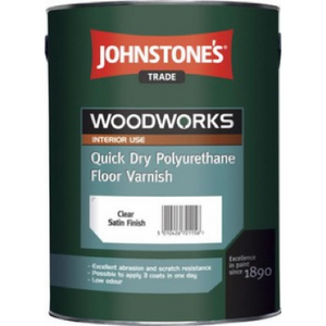 Johnstones Quick Dry Polyurethane Floor Varnish - Buy Paint Online