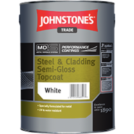 Johnstones Steel & Cladding Semi-Gloss Topcoat - Buy Paint Online