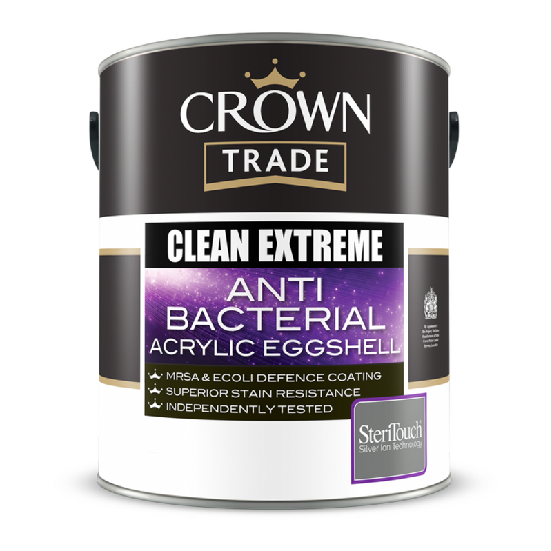 Crown Trade Clean Extreme Anti Bacterial Acrylic Eggshell Paint - Buy Paint Online