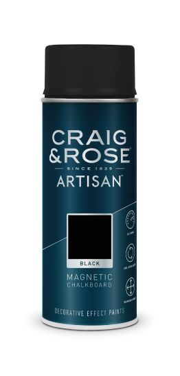 Craig & Rose Artisan Black Magnetic Chalkboard Spray - Buy Paint Online