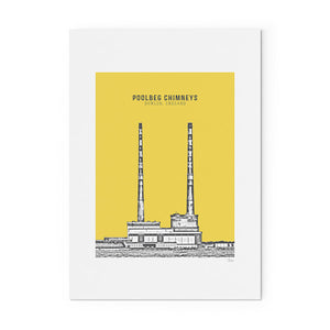 POOLBEG CHIMNEYS PRINT - YELLOW