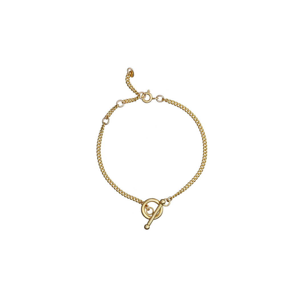 14kt GoldFill Heavy T-Bar Bracelet