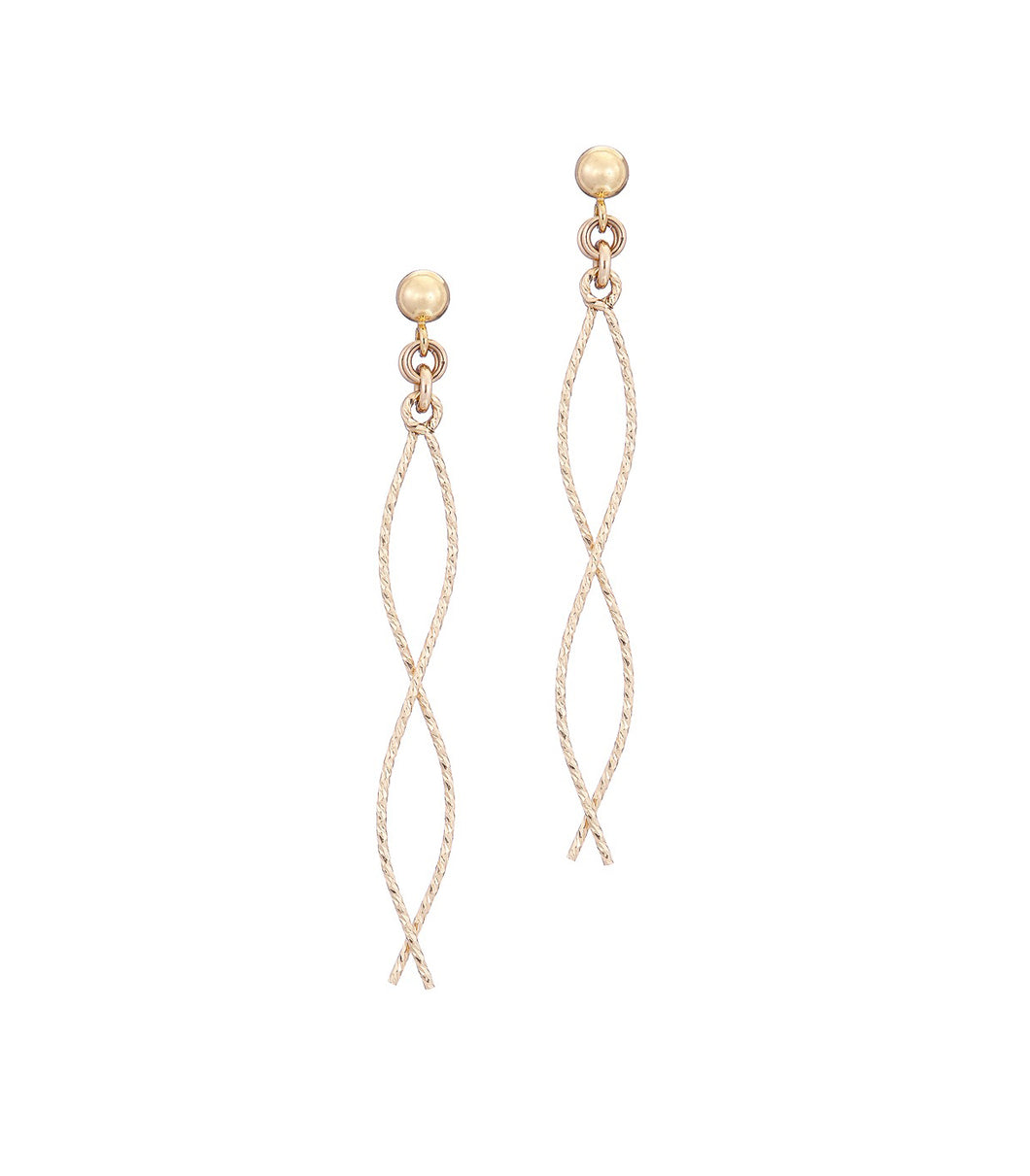 14kt GoldFill Mini Diverge Earrings