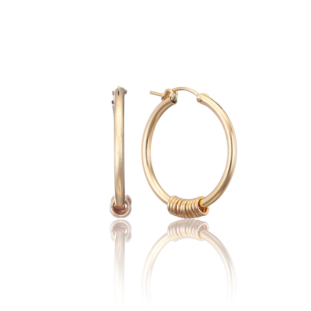 14kt GoldFill Infinity Statement Hoops