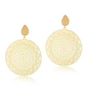 Moroccan Disc Earrings
