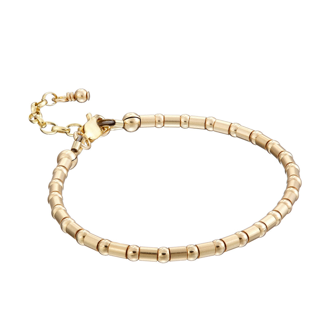 14kt GoldFill Crimp Bead Bracelet