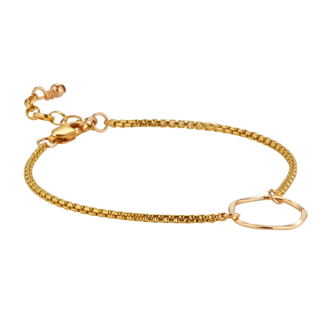 14kt GoldFill Small Textured Ring Bracelet