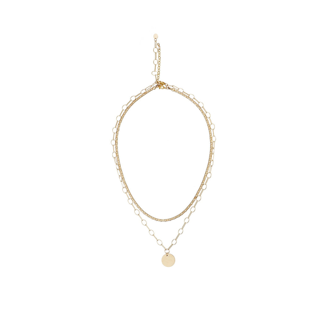 14kt GoldFill Disc Links Necklace